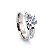 Mujer Anillos Amor Europeo Joyería de Lujo Moda Piedras preciosas sintéticas Cristal Diamante Sintético Legierung Cuatro Puntas Joyas Para