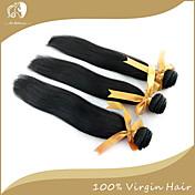 Tejidos Humanos Cabello Cabello Peruano Recto 3 Piezas los tejidos de pelo