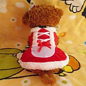 Perro Vestidos Ropa para Perro Navidad Blanco/Rojo Disfraz Para mascotas