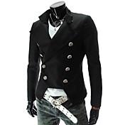 Trajes y Blazers ( Algodón Compuesto )- Casual / Fiesta Cuello de camisa Manga Larga para Hombre