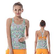 Yokaland Mujer Espalda Cruzada / Espalda Abierta Yoga Top - Rojo, Verde, Azul Deportes Geométrico Licra Chalecos / Tank Tops / Camiseta /