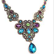 女性 ペンダントネックレス ドロップ 合成宝石類 イミテーションダイヤモンド 合金 欧風 ジュエリー 用途