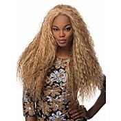 Pelo sintético pelucas Kinky rizado Peluca afroamericana Sin Tapa