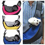 ネコ 犬 キャリーバッグ フロントバックパック ペット用 バスケット 携帯用 高通気性 イエロー レッド グリーン ブルー