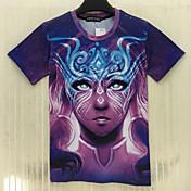 MEN Tシャツ ( ポリエステル ) カジュアル ラウンド - 半袖