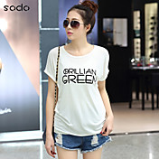 Mujer Estampado Camiseta Letra