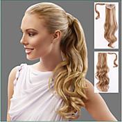 Con Clip Coletas Pelo sintético Pedazo de cabello La extensión del pelo Ondulado Grande