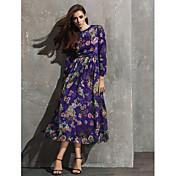 Corte en A Joya Hasta el Gemelo Raso Evento Formal Vestido con Diseño / Estampado por TS Couture®