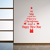 idioma bendición pared calcomanías pegatinas de pared de estilo árbol de navidad pegatinas de pared del pvc