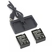 Cargador de batería batería por Cámara acción Gopro 3 Gopro 3+