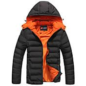 コート レギュラー パッド入り カジュアル フォーマル ワーク プラスサイズ ソリッド コットン コットン 長袖