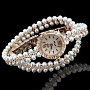 Mujer Reloj de Moda Reloj Pulsera Reloj creativo único Cuarzo La imitación de diamante Aleación Banda Destello Bohemio Perlas Elegantes