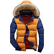 MEN コート&ジャケット ( PU ) ビンテージ / カジュアル スタンド - 長袖