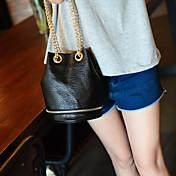 女性 バッグ 秋 PU ショルダーバッグ のために カジュアル ブラック グレー