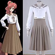 Inspirado por Sailor Moon Sailor Jupiter Animé Disfraces de cosplay Trajes Cosplay Retazos Top Falda Para Mujer