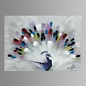Påfugl mur kunst lærred print klar til at hænge