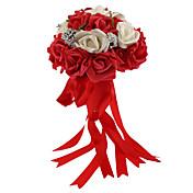 """Bouquets de Noiva Redondo Rosas Buquês Casamento Espuma 9.45""""(Aprox.24cm)"""