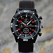 Hombre Reloj Deportivo Reloj de Pulsera Cuarzo Silicona Banda Negro