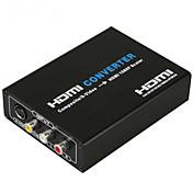 convertidor de HDMI compuesto s-vídeo a 720p HDMI 1080p escalador de vídeo de audio convertidor de CVBS entrada l / r