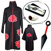 Inspirado por Naruto Itachi Uchiha Animé Disfraces de cosplay Trajes Cosplay Más Accesorios Estampado Collar Capa Más Accesorios Arma
