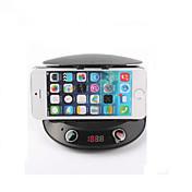 リモコンのBluetooth V2.1ハンズフリーカーキットの電話ホルダー&MP3プレーヤー&FM送信機&スピーカー&変更&TF