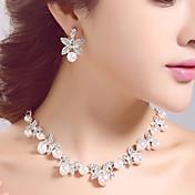 coreano wedding / engagement / party / birthday jewely sets con cristal / perlas