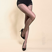 Mujer Fino Un Color Legging, Negro Gris Marrón Piel