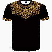 メンズ スポーツ カジュアル/普段着 Tシャツ,ボヘミアン プリント コットン 半袖