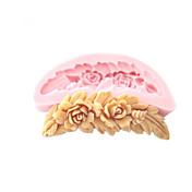 silicona flores en forma de molde de herramientas artesanales moldes de pasta de azúcar del molde de azúcar de chocolate peine para pasteles