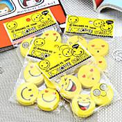 Goma sonriente de la historieta creativa de goma de la cara creativa de 5pcs cara (estilo al azar)