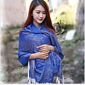 Bufanda Mujer Vintage / Bonito / Casual-Algodón Estampado Rectángulo