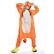 きぐるみパジャマ ドラゴン ワンピースパジャマ コスチューム フリース オレンジ コスプレ ために 成人 動物パジャマ 漫画 ハロウィン イベント/ホリデー