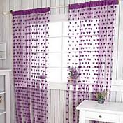 Corredizo Un Panel Ventana Tratamiento De Diseño Corazones Sala de estar Poliéster Material cortinas cortinas Decoración hogareña
