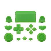 緑/青/黄色PS4コントローラー用のケース部分の皮膚カバー