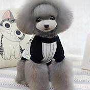 Perro Camiseta Ropa para Perro Transpirable Moda Rayas Gris Azul Disfraz Para mascotas