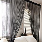 Corredizo Un Panel Ventana Tratamiento Campestre , Estampado Sala de estar Poliéster Material cortinas cortinas Decoración hogareña