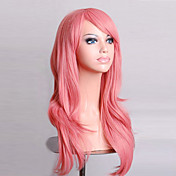 Mujer Pelucas sintéticas Sin Tapa Ondulado Natural Rosa peluca de vestuario Peluca de Halloween Peluca de carnaval Las pelucas del traje