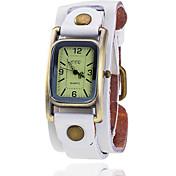 Mujer Reloj de Vestir Reloj de Moda Cuarzo Reloj Casual Piel Banda Cosecha Negro Azul Marrón Verde Múltiples Colores