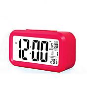 gran pantalla LCD reloj electrónico reloj perezoso luz de repetición de inducción reloj despertador de alarma inteligente (color