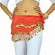 Danza del Vientre Cinturón Mujer Entrenamiento Gasa Cuentas Monedas 1 Pieza Bufanda Hip y cinta de Danza del vientre no incluidas.