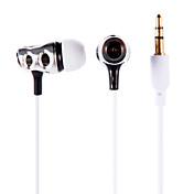 iPodの/アプリ/ iphone / mp3用のインイヤーイヤホンイヤフォンヘッドフォンのPX-618 3.5mmステレオ