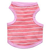 ネコ 犬 Tシャツ 犬用ウェア 高通気性 ファッション 縞柄 ブルー ピンク コスチューム ペット用