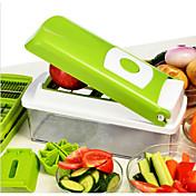1枚 Apple ニンジン オレンジ タマネギ キュウリ トマト カッター&スライサー For フルーツのための 野菜のための ステンレス 多機能 高品質 クリエイティブキッチンガジェット