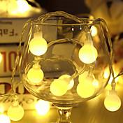 10 m llevó las luces de la secuencia con 80led ball ac220v vacaciones decoración lámpara festival luces al aire libre iluminación
