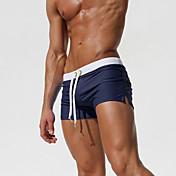Hombre Deportivo Partes Inferiores Un Color Pantalones de bañador Azul y Blanco