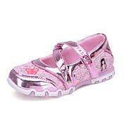 女の子-カジュアル-チュール-フラットヒール-靴を点灯-フラット-フクシャ ピンク