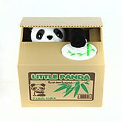 Itazura Alcancia Robando el banco de monedas Caja de ahorro de dinero Case Piggy Bank Juguetes Bonito Cuadrado Oso Panda Piezas Regalo
