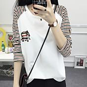 Mujer Estampado - Camiseta A Rayas Algodón