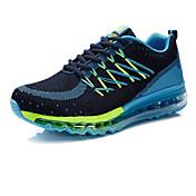 Hombre-Tacón Plano-Confort-Zapatillas de deporte-Exterior Deporte-PU-Negro Azul Rojo