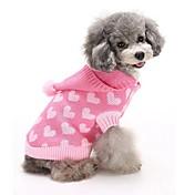 猫用品 犬用品 セーター パーカー 犬用ウェア 冬 ハート キュート ファッション 保温 ブルー ピンク